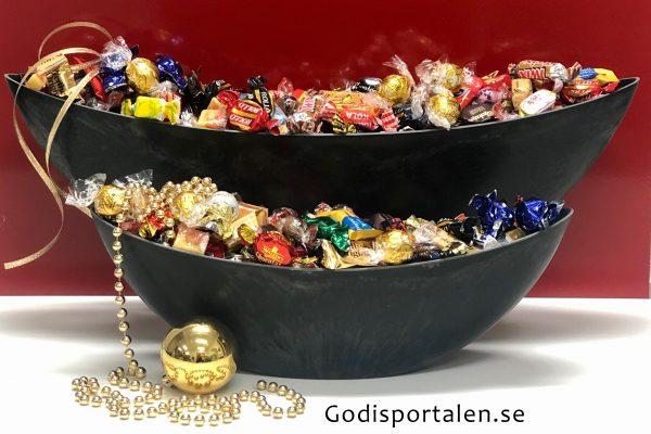 Julgondol fylld med lyxigt godis