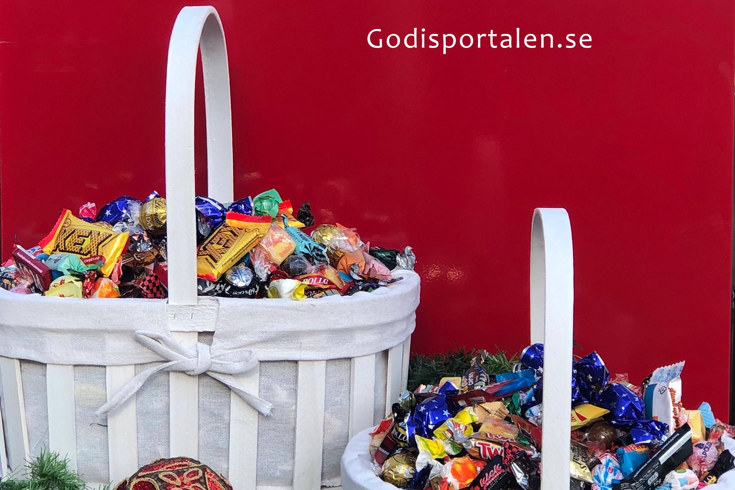 Julkorg Fylld Med Lyxigt Inslaget Godis Godis Online Godisportalen Se