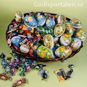 Påskkorg lyx med påskgodis och påskägg - Godisportalen.se