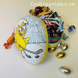 Påskägg Hockey 700 gram, 18 cm. Godisportalen.se