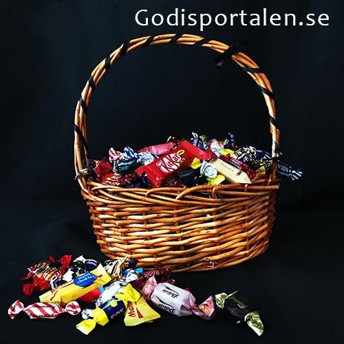 Halloween Godiskorg till Företag / Vän. Med svarta band - Godisportalen.se