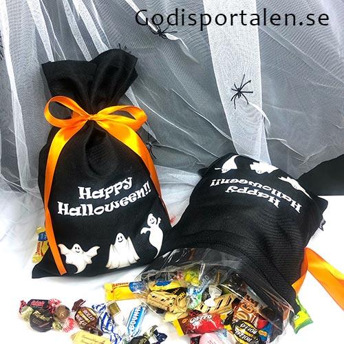Halloween Godissäck / Godispåse med tryck. Skicka Halloweengodis till företag - Godisportalen.se